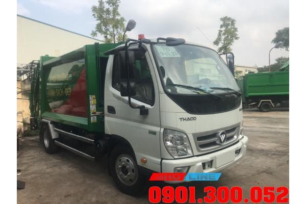Xe cuốn ép rác Thaco Ollin 700 Euro 4 5khối sản xuất 2020