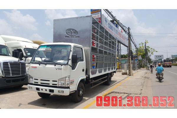 Xe tải Isuzu VM NK550L4 bửng nâng 2 tầng chở xe máy