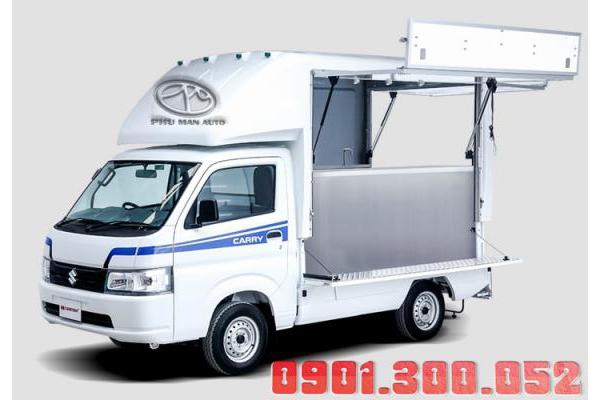 Xe tải Suzuki Pro 810kg bán hàng lưu động