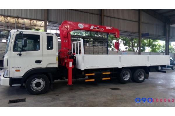 Xe tải Hyundai HD210 gắn cẩu Unic URV 550 5 tấn