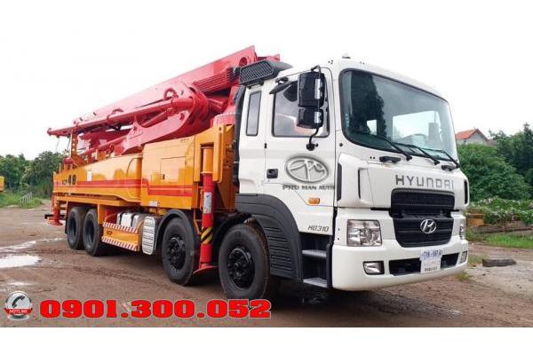 Xe bơm bê tông Hyundai HD310 cần KCP 48 mét