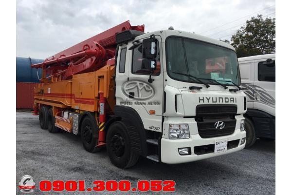 Xe bơm bê tông Hyundai HD310 cần KCP 48 mét nhập khẩu Hàn Quốc, giá rẻ