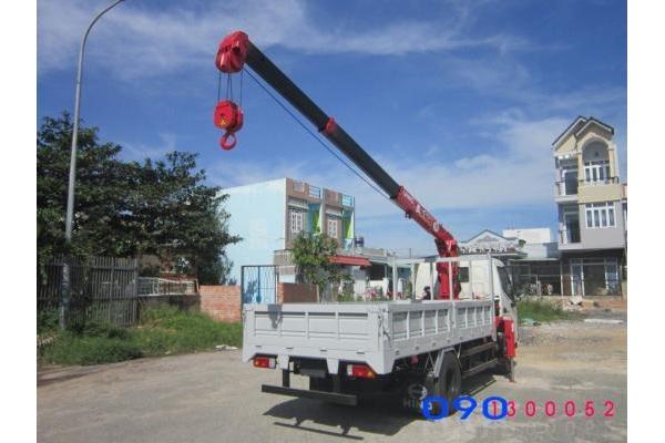 Xe tải Hino WU352 gắn cẩu Unic U233 2.3 tấn