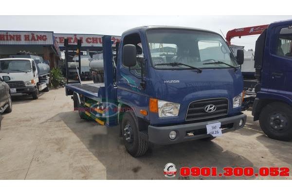 Xe nâng đầu Hyundai Mighty 110S chở máy công trình