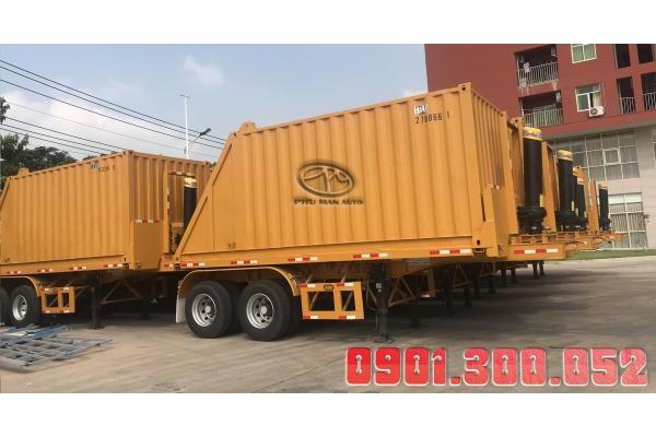 Sơmi rơmooc ben tự đỗ thùng Container 20 Feet
