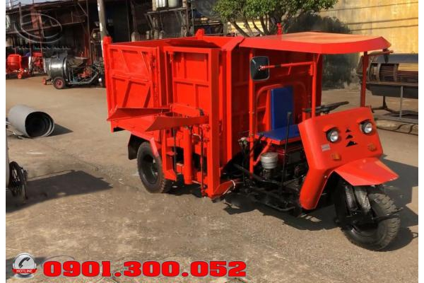 Xe ba gác chở rác - xe ba gác ben chở rác mini khu vực dân cư - xe chở rác nông thôn