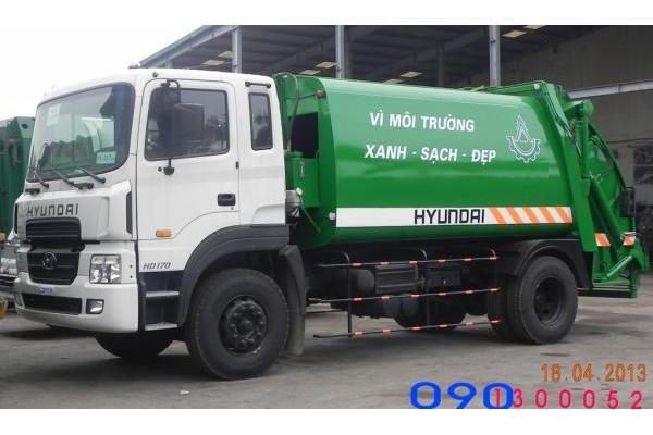 Xe cuốn ép chở rác Hyundai HD120 - 9 khối