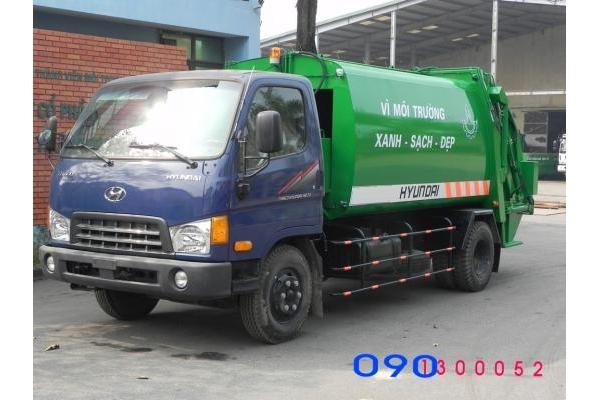 Xe cuốn ép chở rác Hyundai Hd700 9 khối