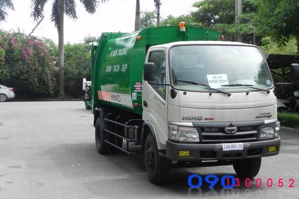Xe cuốn ép rác Hino WU342L 6 khối (6m3)