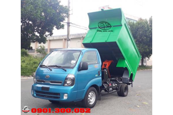 Xe ép rác k200 - xe chở rác Thaco Kia K200 2019 Euro 4 thu gom rác khu vực dân cư