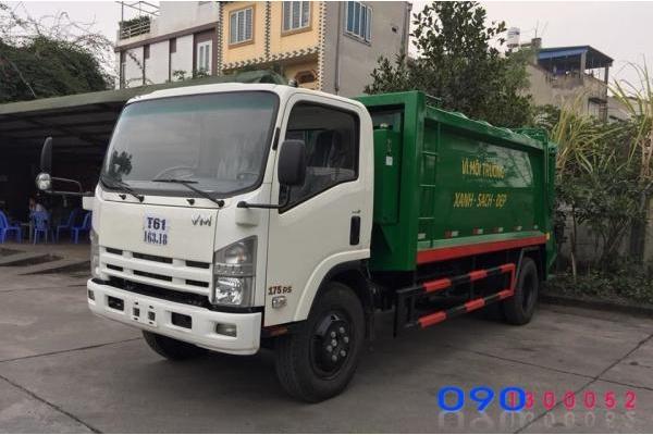 Xe cuốn ép rác Isuzu FN129 12 khối