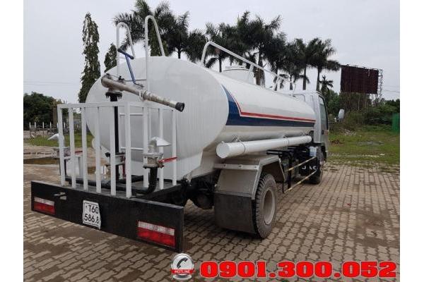 Xe tưới nước rửa đường Jac 5 khối