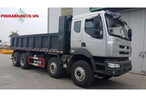 Xe ben 4 chân Chenglong 17 tấn 375HP Cầu Dầu